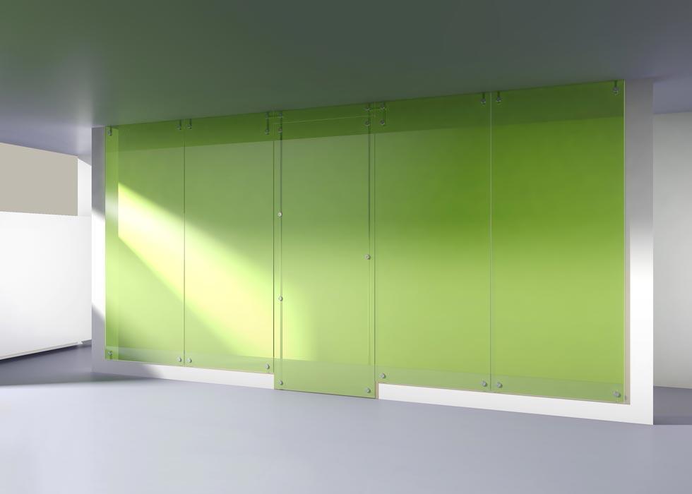 Parois couleur verte